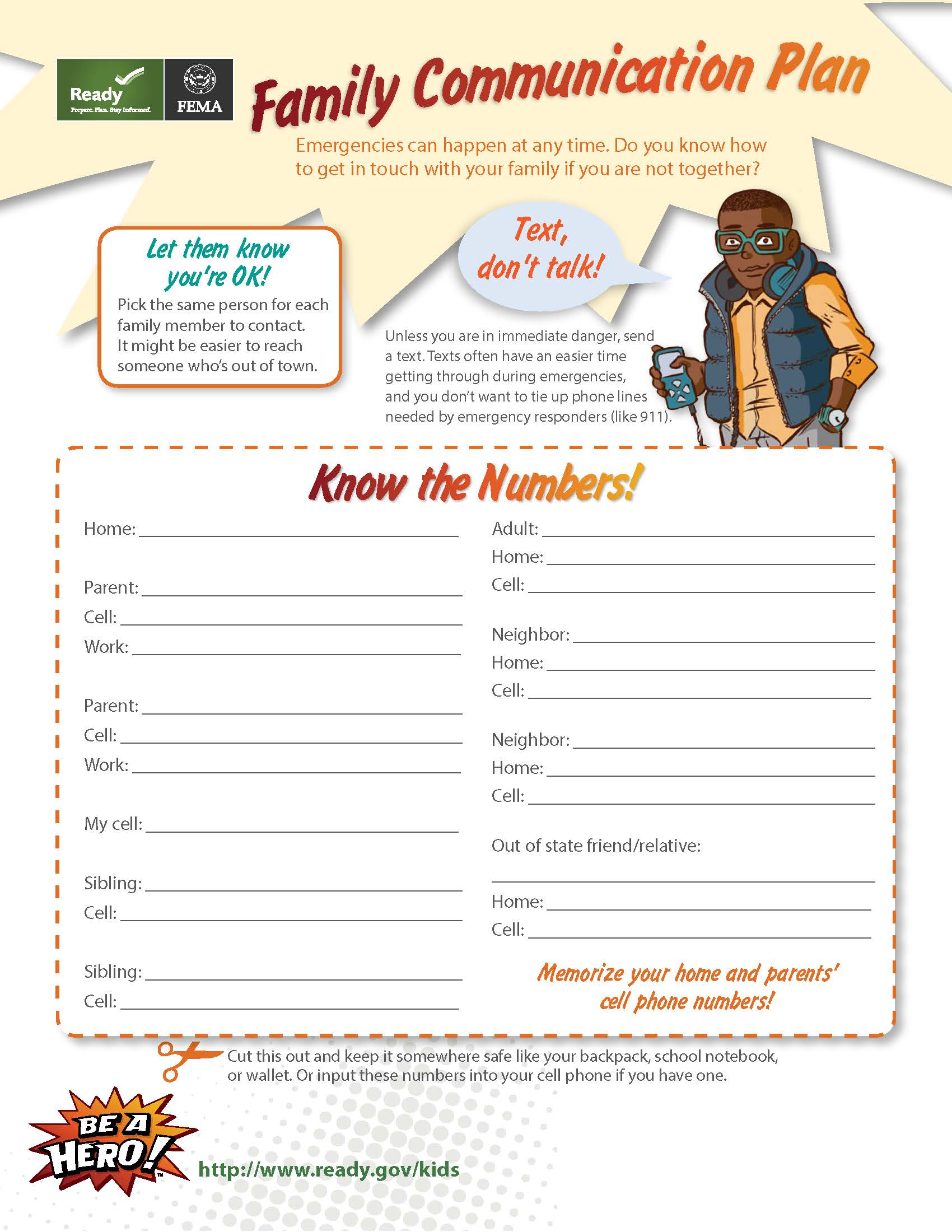 Printable worksheet for Kids
