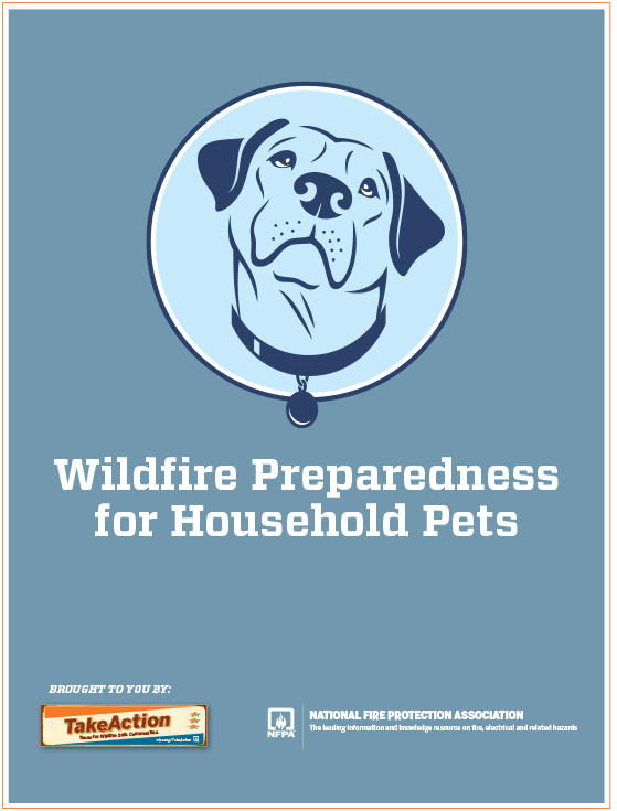 Checklist for pets by the National Fire Protection Association